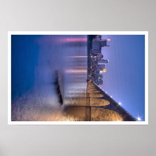 Twilight-Minneapolis Stone Arch Bridge Poster