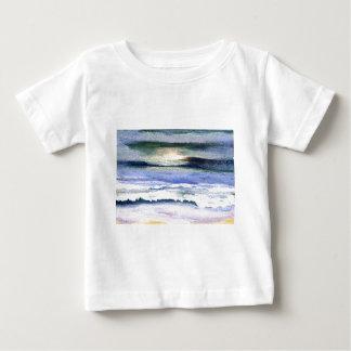 Twilight Ocean Waves Beach Surf Decor Art Infant T-Shirt