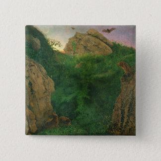 Twilight (oil) 15 cm square badge