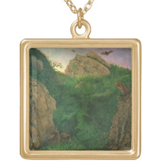 Twilight (oil) gold plated necklace