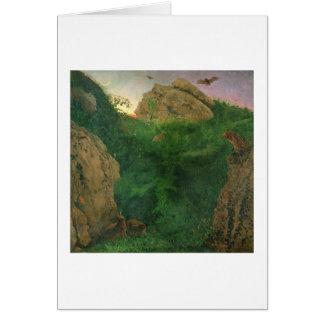 Twilight (oil) greeting card