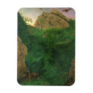 Twilight (oil) rectangular photo magnet