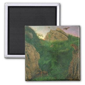 Twilight (oil) square magnet