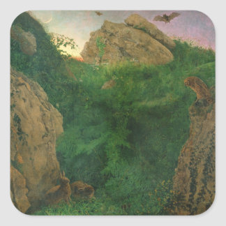Twilight (oil) square sticker