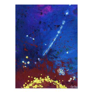 TWILIGHT (outer space art) ~ 17 Cm X 22 Cm Invitation Card