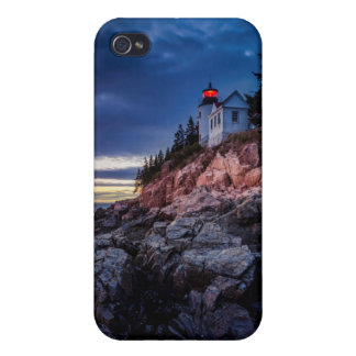 Twilight Over Bass Harbor Lighthouse, Acadia iPhone 4 Covers