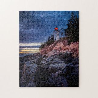Twilight Over Bass Harbor Lighthouse, Acadia Jigsaw Puzzle