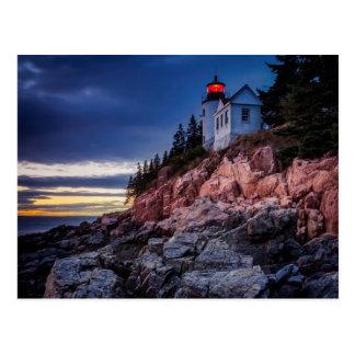 Twilight Over Bass Harbor Lighthouse, Acadia Postcard