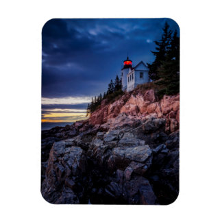 Twilight Over Bass Harbor Lighthouse, Acadia Rectangular Magnet