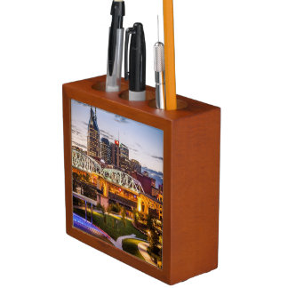 Twilight over Cumberland Park and downtown Desk Organiser