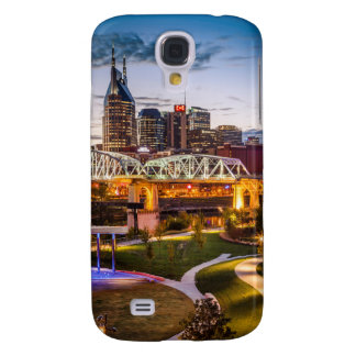 Twilight over Cumberland Park and downtown Galaxy S4 Case