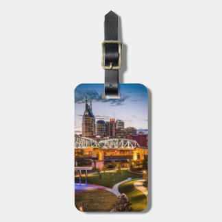 Twilight over Cumberland Park and downtown Luggage Tag