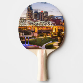 Twilight over Cumberland Park and downtown Ping Pong Paddle