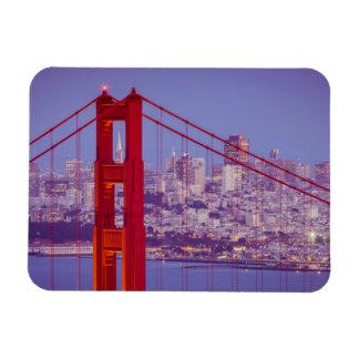 Twilight Over The Golden Gate Bridge Rectangular Magnets