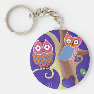 Twilight Owls Key Ring