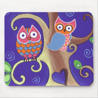 Twilight Owls Mouse Pad