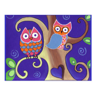 Twilight Owls Postcards