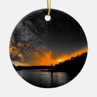 Twilight Round Ceramic Decoration