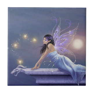 Twilight Shimmer Fairy Art Tile