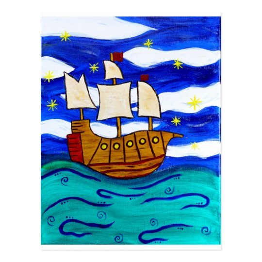 Twilight Ship Postcard