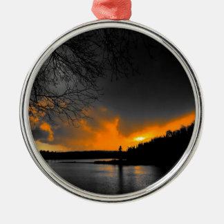 Twilight Silver-Colored Round Decoration