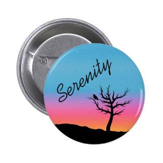 Twilight Sky Serenity Design 6 Cm Round Badge