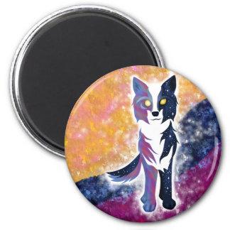 Twilight Sky Wolf Fridge Magnet