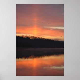 Twilight sunbeam poster