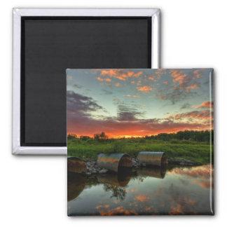 Twilight - Sunset Square Magnet