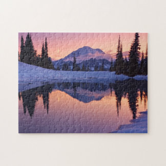 Twilight, Tarn and Crescent Moon Jigsaw Puzzle