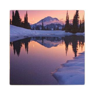 Twilight, Tarn and Crescent Moon Wood Coaster