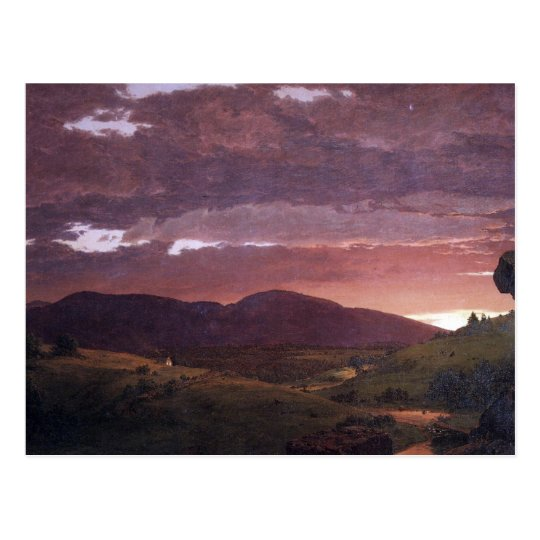Twilight 'twixt day and night by Frederick Church Postcard