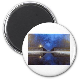 Twilight Walk Fridge Magnet