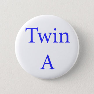 Twin A Blue 6 Cm Round Badge