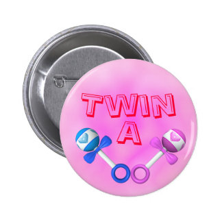 Twin A Button (pink)