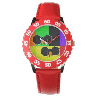 Twin Afro Puffs II Wristwatch