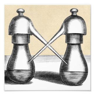 Twin Alembic Laboratory Apparatus Photo Art