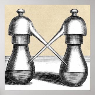 Twin Alembic Laboratory Apparatus Poster