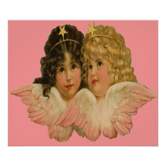 Twin Angels poster print