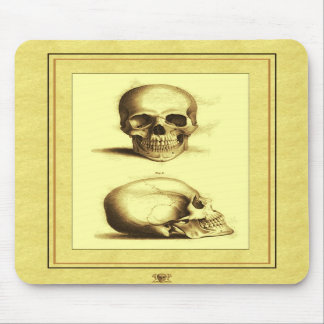 Twin Antique Skulls Mouse Pads
