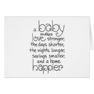 TWIN BABIES DOUBLE THE LOVE/EVERYTHING GREETING CARD