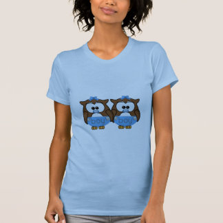 twin baby boy owl tshirt