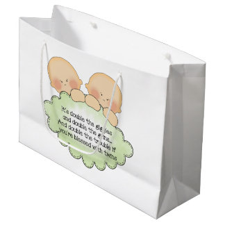 Twin baby poem fun gift bag