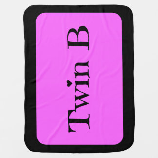 Twin Baby Shower Gifts - Twin B Blanket Pink/Black