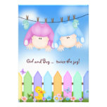 Twin Baby Shower Personalised Invitations