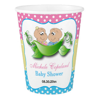 Twin Baby Shower - Two Peas In A Pod Paper Cup