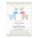 Twin Boy and Girl Giraffe Baby Shower 13 Cm X 18 Cm Invitation Card