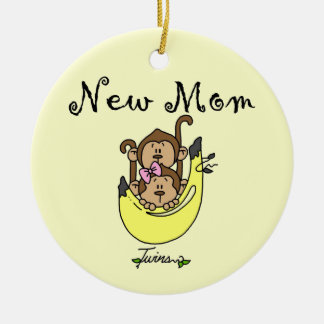 Twin Boy and GIrl New Mom Gifts Christmas Ornament
