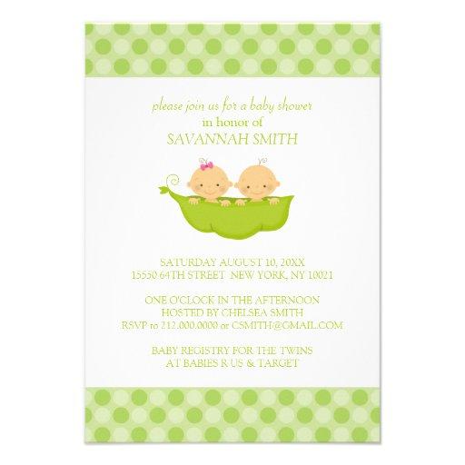 Twin Boy & Girl Baby Shower Invitations
