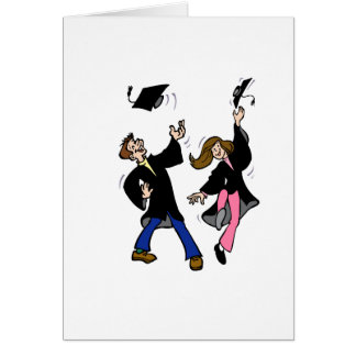 Twin Boy & Girl Graduates Greeting Card